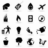 Black eco icons