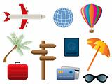Travel and transportation icons