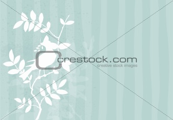 Background with bird on a branch