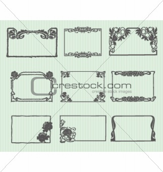 Art Nouveau Horizontal Frame Set