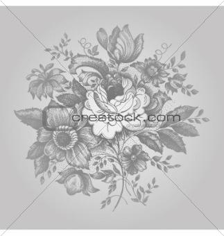 Retro Flower Ornate
