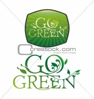 go green typography