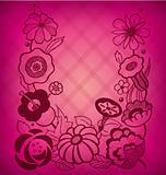 Magenta floral background