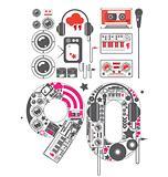 90's Groove Icon Set