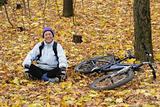 Autumn walks on a bicycle