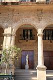 Statue under the arches Cuba