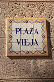 Sign for Plaza Vieja Havana