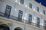 White building with balconies Cuba