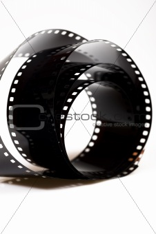 black photo film isolated on white background