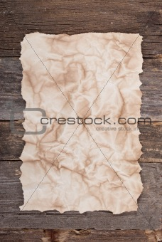 Old paper on wood texture