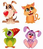 Cartoon animal set