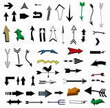 Vector set of useful arrows