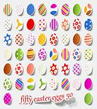 fifty easter eggs