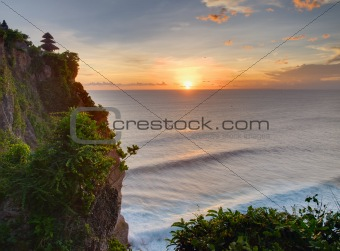 Sunset from the top of cliff