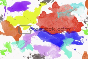 Watercolor backgrounds isolated on white background