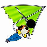 flight on a hang-glider