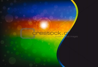 abstract bokeh background with rainbow motive