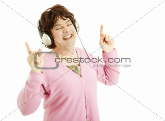 Cross Dresser Enjoys Music