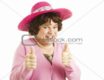 Cross Dresser Two Thumbs Up