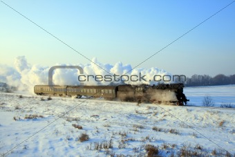 Old retro steam train