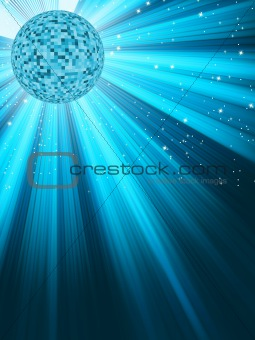 Mirror disco ball. EPS 8