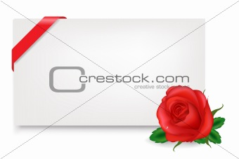 Blank Gift Tag With Rose