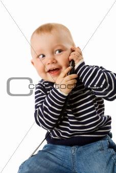 boy talking on phone