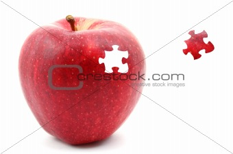 apple and puzzle