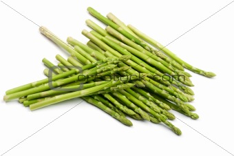 asparagus on white