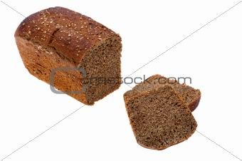 Cutting black bread