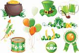 Saint Patrick&#39;s Day symbols