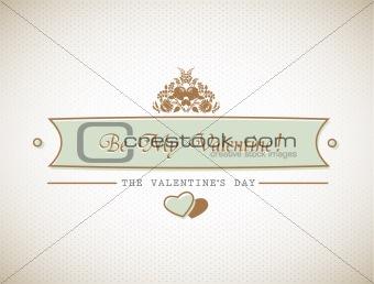 Old stylish Valentine's sign.