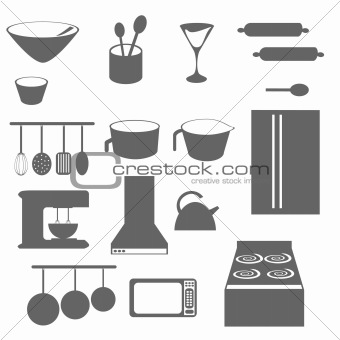Kitchen Objects Silhouette