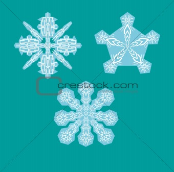 Alphabet Snowflakes ( set U to W )