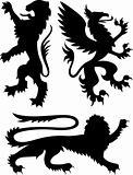 heraldic royal griffin crest design