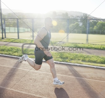 man jogging at early morning