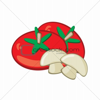 Tomato and mushrooms