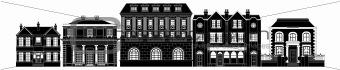 Posh smart row of buildings