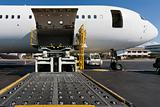 Loading cargo plane