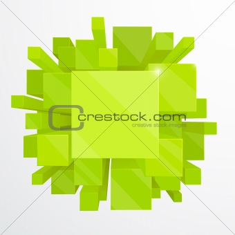 3d green abstract background