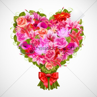 heart shaped posy