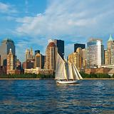 Sailing in the Hudson River, New York