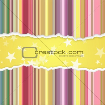 Abstract banner with stripes and stars