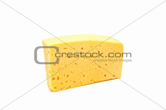A big piece of of cheese