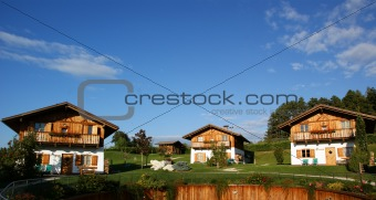 Chalets With Flowers and Wood