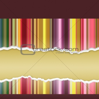 Abstract banner with stripes