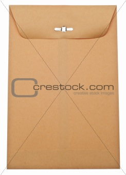 Closed Brown Envelope with Clasp