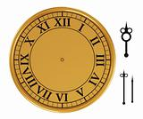 3d antique old clock