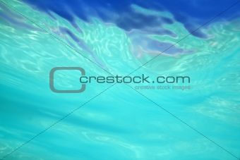 abstract water shapes from sea underwater