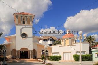 Church Puerto Morelos Mexico Mayan Riviera